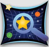 夜の公園と星座板。GPSで空の星々の名前がわかる名アプリ。