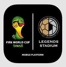 手の平にブラジルを!FIFA公認動画配信アプリ「FIFA ワールドカップ LEGENDS STADIUM」