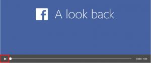 Facebookルックバック動画再生