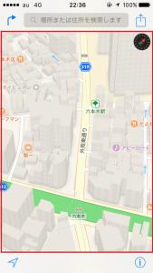地図が3D画像になる