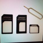 SIMカードのサイズが違うときに使いたい「SIMアダプタ」