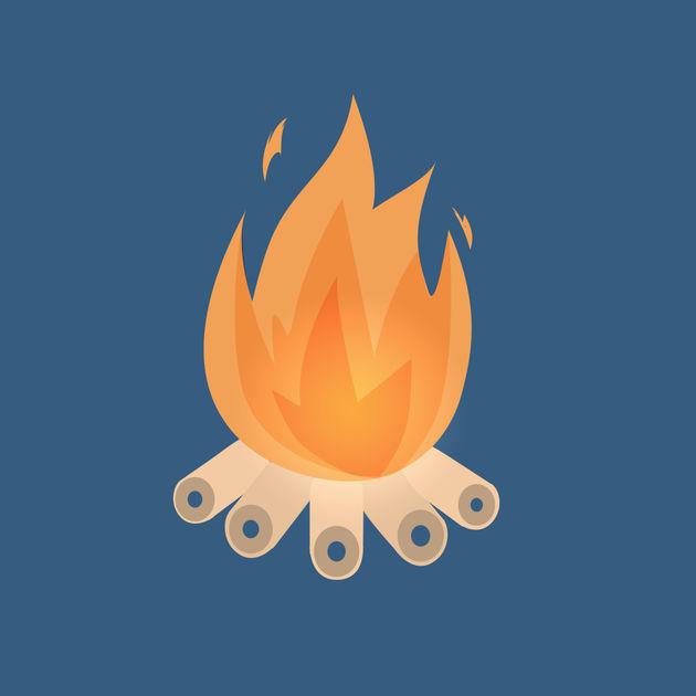 炎は究極のリラックス方法!「焚き火」アプリで疲れた心を癒そう。